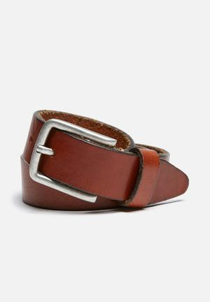 Jack & Jones Footwear & Accessories Lee Leather Belt  Brown