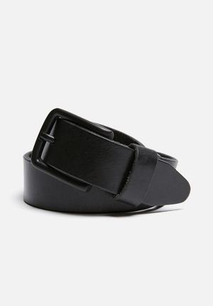 Jack & Jones Footwear & Accessories Lee Leather Belt  Black