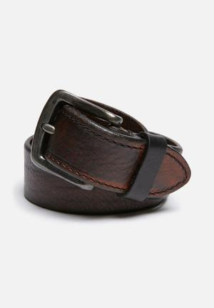 Jack & Jones Footwear & Accessories Tony Leather Belt Brown