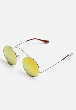 THIRD Baybay Eyewear Pink & Gold