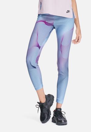 Nike Bonded Leggings Bottoms Blue & Purple