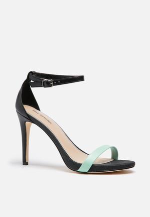 Call It Spring Balewen Heels Black & Mint