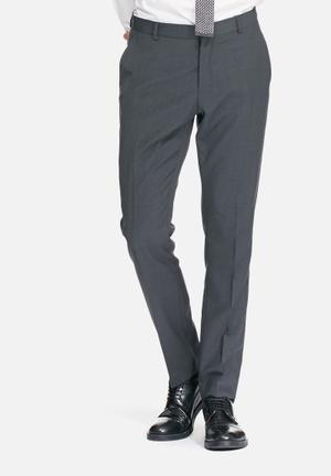 Selected Homme Don Slim Trouser Pants Grey
