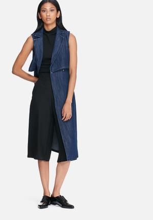 ONLY Beccy Denim Trench Coat Blue