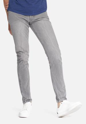 Sergeant Pepper Stovepipe Tapered Jeans Grey