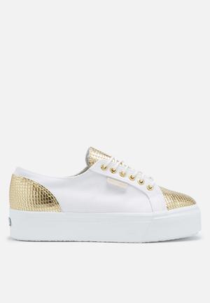 SUPERGA 2790 Cotleasnake Sneakers White & Gold