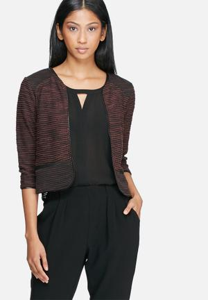 Vero Moda Minna Sweat Cardigan Knitwear Brown & Black