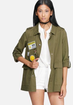 Vero Moda Pixie Shirt Jacket Khaki