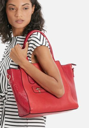 Modascapa Belle Tote Bags & Purses Red