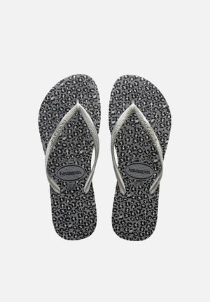 Havaianas Women's Slim Animals Sandals & Flip Flops Steel Grey