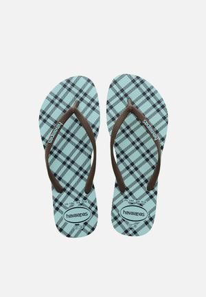 Havaianas Women's Slim Retro Sandals & Flip Flops Brown & Blue