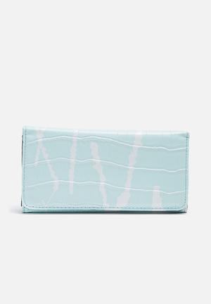 Dailyfriday Printed Purse Mint & White