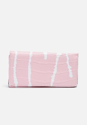 Dailyfriday Printed Purse Pink & White