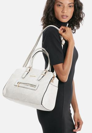 Dolce Vita Zip Front Bag White