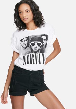 Vintage Lover Nirvana Tee T-Shirts, Vests & Camis White