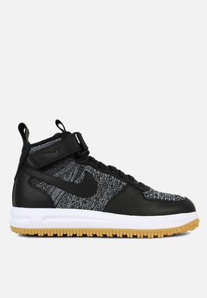 Nike Lunar Force 1 Flyknit Sneakers Black / White / Wolf Grey / Gum