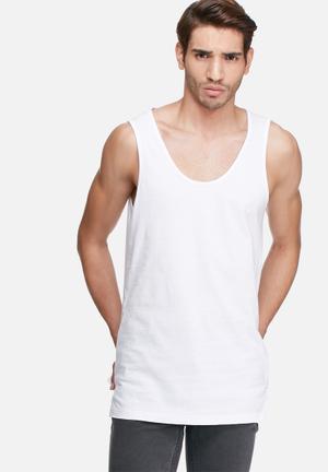 Basicthread Tail Vest White