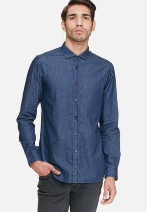 Basicthread Denim Regular Fit Shirt Blue