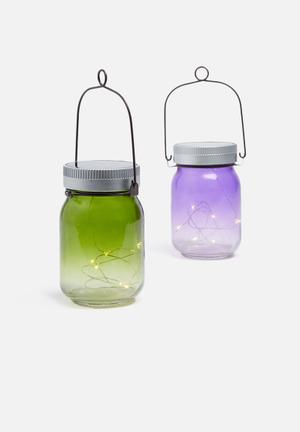 Thumbs Up Fairy Jars Lighting Glass