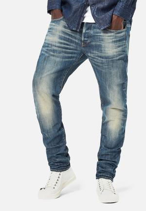 G-Star RAW 3301 Slim Jeans Blue Dark Aged Stretch Denim