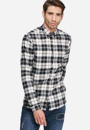 Only & Sons Sven Slim Shirt Black & White