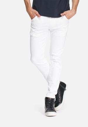 Diesel  Krooley Slim Sweat Jeans White