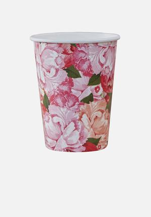 Ginger Ray Floral Paper Cups Partyware Paper