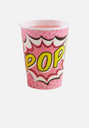 Ginger Ray Pop Art Paper Cups Partyware Paper