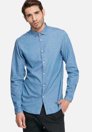 Jack & Jones Premium Ivy Slim Shirt Blue