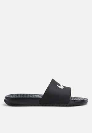 Nike Benassi Slide Sandals & Flip Flops Black / White
