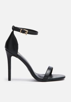 Missguided Barely There Sandal Heels Black