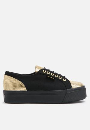 SUPERGA 2790 Cotropew Espadrill Sneakers Black & Gold