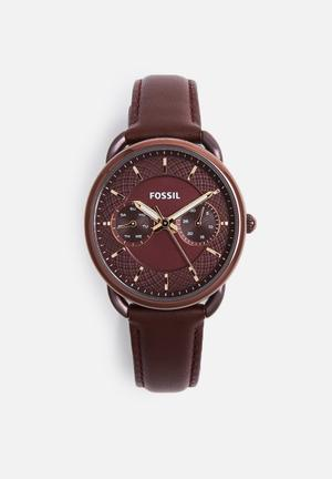 Fossil Tailor Watches Burgundy