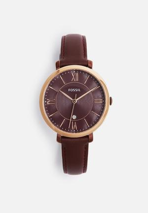 Fossil Jacqueline Watches Burgundy