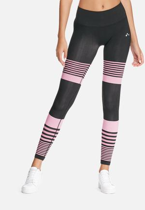 ONLY Play Ida Seamless Tights Bottoms Black & Pink