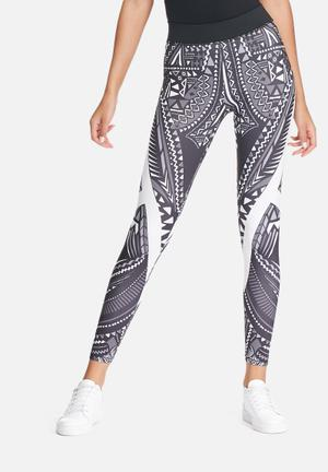 ONLY Play Zoey Training Tights Bottoms Black, White & Grey