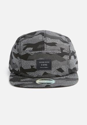 Jack & Jones Footwear & Accessories Flex Cap Headwear Black & White