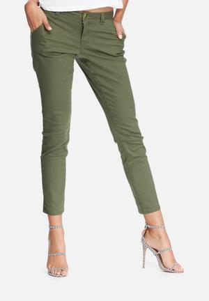 VILA Mayas Chino Trousers Green
