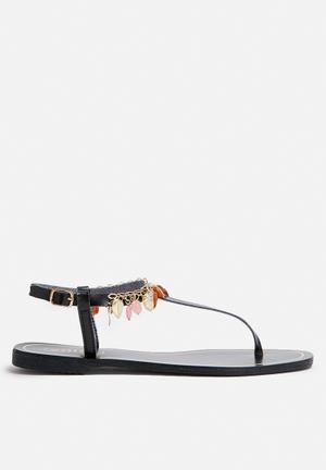 Zoom Gina Sandals & Flip Flops Black