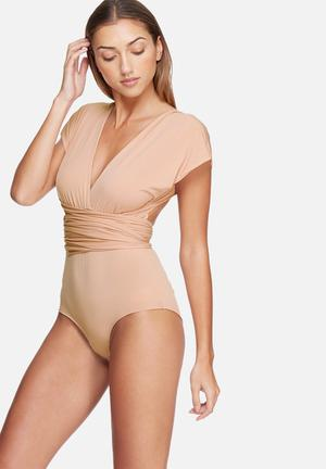 Dailyfriday Infinity Strap Bodysuit T-Shirts, Vests & Camis Nude Pink