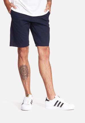 Basicthread Slim Fit Chino Short  Navy