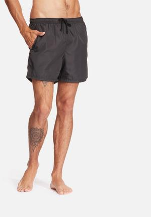 Basicthread Swimshort Basic Swimwear Black