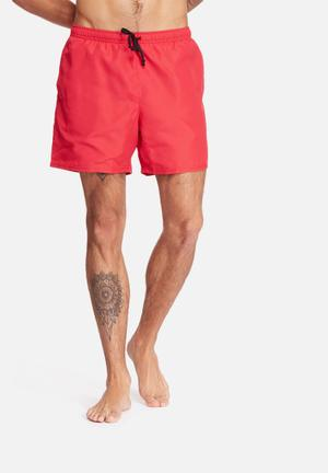 Basicthread Swimshort Basic Swimwear Red