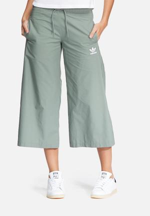 Adidas Originals Wide Leg Pants Bottoms Green