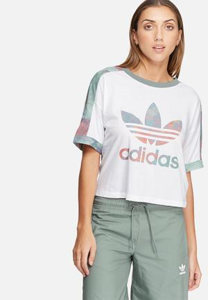 Adidas Originals Logo Tee T-Shirts White, Pink, Green & Blue