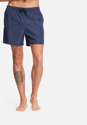 Basicthread Swimshort Basic Swimwear Navy