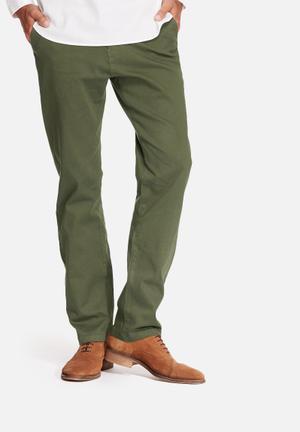 Basicthread Regular Fit Chinos Khaki Green
