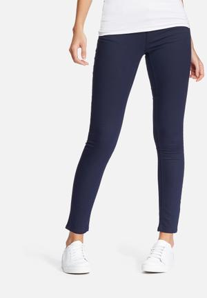 ONLY Elena Regular Skinny Pants Trousers Navy