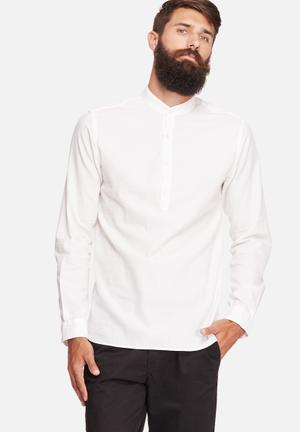 Jack & Jones Premium Kevin Slim Tunic Shirt White