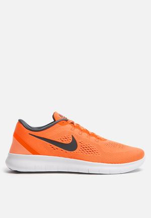 Nike Free Run Sneakers Total Orange - Anthracite / Off White